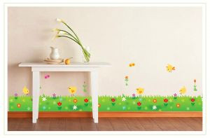 Decals Arts Chick Green Grass Wall Sticker
