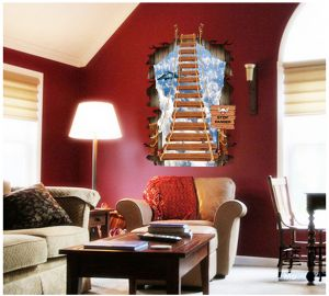 Wall stickers & decals - Decals Arts Ladder Wall Sticker Removable Home Decors Decal