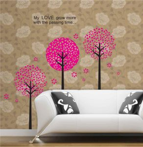 Decals Arts Flower Tree Vinyl Wall Sticker For Kids Rooms
