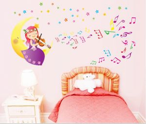 Decals Arts Cartoon Girl Children Removable Wall Sticker