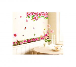 Decals Arts Fence Safflower Diy Decorative Removable Wall Sticker