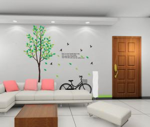 Decals Arts Trees Bicycle Home Kids Vinyl Wall Sticker
