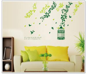 Decals Arts Bird Cages Vinyl Wall Sticker For Kids Rooms