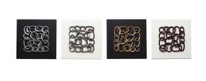 Decals Arts Hand Painted Abstract Chains 3d Embossed Painting