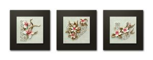 Decals Arts Hand Painted Floral Love Set 3d Embossed Painting