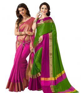 Sarees - Buy 1 Get 1 Free Bhuwal Fashion Cotton Silk Sarees (code- Combo291)