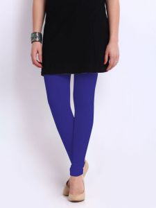 Red Rose Lycra Ankle Legging Blue