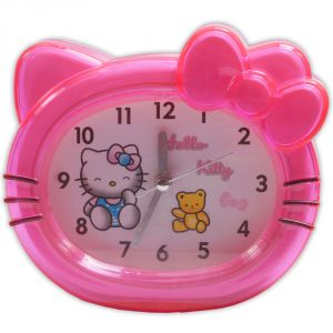 Exclusive Hello Kitty Analog Gift Table Wall Desk Self Clock Watch With Alarm -46