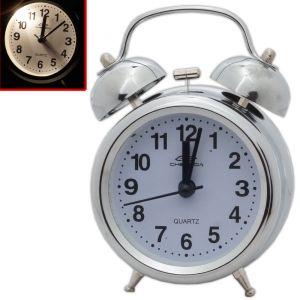 Exclusive Antique Ana Log Gift Table Wall Desk Self Clock Watch With Alarm-57