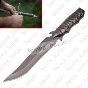 Swiss Knives - Antiques pics Metal Axe Heavy Stick Knife Knives Churi Chaku Home Decor Outdoor Camping Full Black -02