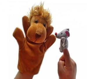 Kuhu Creations Lion Mouse Famous Story Telling Hand Finger Puppets