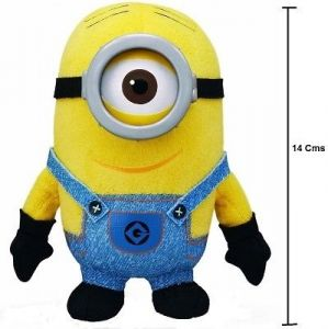 Cute Cartoon Yellow Small Oey 14 Cms 3d Resin Eyes, Doll Plush Toy