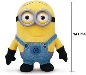 Cute Cartoon Tey Yellow Small 14 Cms 3d Resin Eyes, Doll Plush Toy