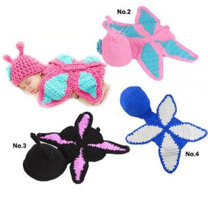 Handmade New Baby Infant Butterfly Crochet