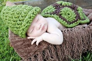 Handmade New Baby Infant Turtule/tortoise Crochet