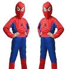 Spiderman Red Small Costume Fancy Dress With Face Mask For Kids (3 -7 Years)