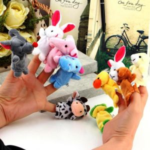 Soft Toys - Kuhu Creations Animal Finger Puppets Pack Of 10 - Multi color