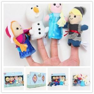 Kuhu Creation Disney Frozen Finger Puppets Multicolor - Set Of 4 Pieces
