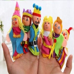 Kuhu Creation Royal Family Finger Puppets - Set Of 6 Pieces