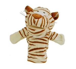 Hand Puppet Glove Tiger Baby Education Play Toy Velvet-cotton