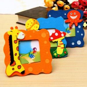 Wooden Frame 3pcs Small Cartoon Design In Vivid Color Cute And Beautiful