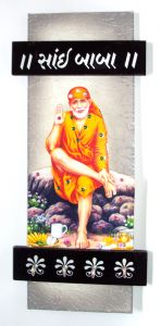 Key Holder With God Photo - Sai Baba