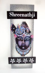 Key Holder - Decorative, Wooden, Handcrafted With God Photo - Shreenathji