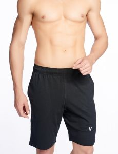 V Star Mens Cotton Black Shorts & 3/4ths