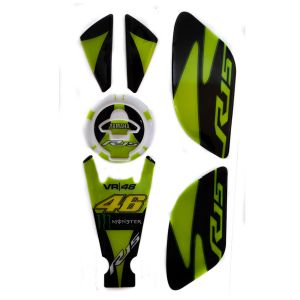 Spidy Moto Gas Fuel Tank Pad With Oil Cap Protector Decals Sticker With Side Knee Grip 003 For Yama R15 V.3
