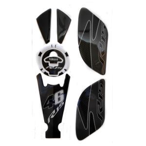 Spidy Moto Tank Pad With Fuel Cap Protector And Anti Slip Side Knee Grip Decals Sticker 004 For Yama R15 V.3
