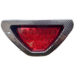 Brake light - Spidy Moto F1 Style Rear LED Third Brake Light With Carbon Finishing Flash Fitting Red Color Universal For Car