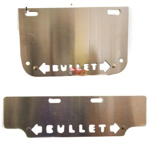 Spidy Moto Bike Steel Front And Rear Number Plate With Inbuilt Indicator For All Bullets Bikes
