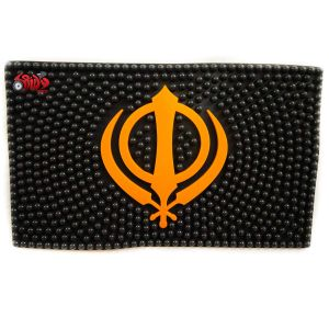 Spidy Moto Khanda Symbol Car Dashboard Non-slip Mat Mobile Phone Anti-slip Pad Sticky Mat