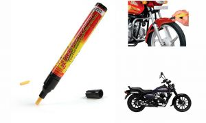 Spidy Moto Auto Smart Coat Paint Scratch Repair Remover Touch Up Pen For Bajaj Avenger 150 Street