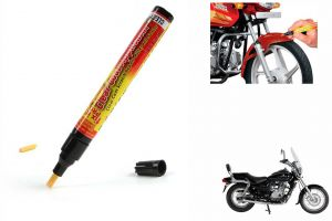 Spidy Moto Auto Smart Coat Paint Scratch Repair Remover Touch Up Pen For Bajaj Avenger 220 Dts-i
