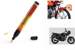 Bike accessories - Spidy Moto Auto Smart Coat Paint Scratch Repair Remover Touch Up Pen for Bajaj New Discover 125