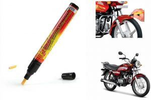 Spidy Moto Auto Smart Coat Paint Scratch Repair Remover Touch Up Pen For Hero Motocorp Hf Dawn