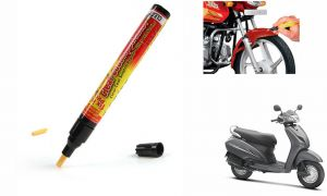 Spidy Moto Auto Smart Coat Paint Scratch Repair Remover Touch Up Pen For Honda Activa 3G