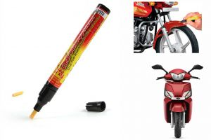 Spidy Moto Auto Smart Coat Paint Scratch Repair Remover Touch Up Pen For Mahindra Scooter Gusto