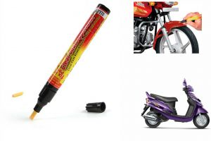 Spidy Moto Auto Smart Coat Paint Scratch Repair Remover Touch Up Pen For Mahindra Scooter Rodeo Rz