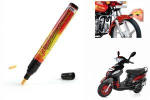 Spidy Moto Auto Smart Coat Paint Scratch Repair Remover Touch Up Pen For Mahindra Scooter Rodeo Uzo 125