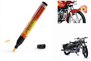 Spidy Moto Auto Smart Coat Paint Scratch Repair Remover Touch Up Pen For Royal Enfield Retro Street Classic Bettle Green