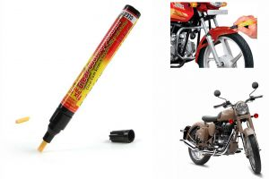 Spidy Moto Auto Smart Coat Paint Scratch Repair Remover Touch Up Pen For Royal Enfield Retro Street Classic Desert Storm