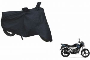 Spidy Moto Sporty Champion Bike Body Cover Water Proof Black - Bajaj Discover 100 T
