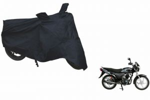 Spidy Moto Sporty Champion Bike Body Cover Water Proof Black - Bajaj Platina 100