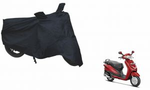 Spidy Moto Sporty Champion Bike Body Cover Water Proof Black - Hero Duet