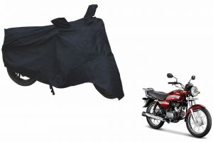 Spidy Moto Sporty Champion Bike Body Cover Water Proof Black - Hero Motocorp Hf Dawn