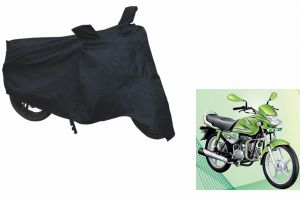 Spidy Moto Sporty Champion Bike Body Cover Water Proof Black - Hero Motocorp Hf Deluxe Eco