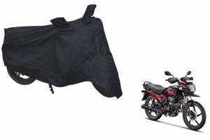 Spidy Moto Sporty Champion Bike Body Cover Water Proof Black - Hero Motocorp Passion Pro Tr