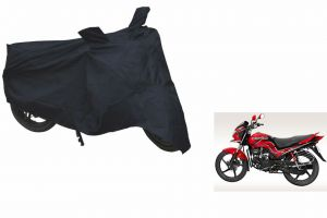 Spidy Moto Sporty Champion Bike Body Cover Water Proof Black - Hero Motocorp Passion Pro